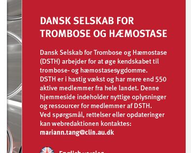 dansk selskab for trombose og hæmostase
